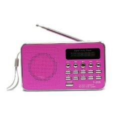ซื้อ ลำโพงวิทยุ ลำโพง Mp3 Usb Sd Card Micro Sd Card รุ่นT 205 สีชมพู ถูก