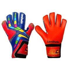 Landwin ถุงมือ โกล์ว ฟุตบอล Football Goal Keeper Gloves Boomer Red เป็นต้นฉบับ