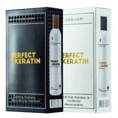 ราคา L Angel Perfect Keratin เพอร์เฟ็ค เคราติน เซ็ท ดำ ขาว 258Ml X4 ใหม่ ถูก