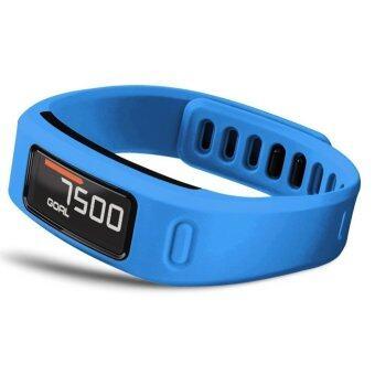 Large Replacement Wrist Band w/Clasp for Garmin Vivofit Bracelet (No Tracker) Blue L
