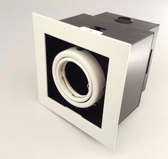 Leon Light โคมไฟ ดาวไลท์ ดาวไลท์ฝังฝ้า Downlight Recess 1xMR16 รุ่น LH-GDL08-1 ขอบขาว แหวนขาว
