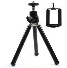 Lily ขาตั้งมือถือ ขาตั้งกล้อง สามขา Tripod mobile holder (สีดำ)