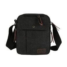 ขาย Lily กระเป๋าสะพายข้าง ผู้ชาย ผ้าแคนวาส รุ่น Lc0031 Black สีดำ ใน กรุงเทพมหานคร