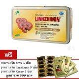 ราคา Linhzhimin หลินจือมิน เห็ดหลินจือแดงสกัด บำรุงร่างกาย ขนาดบรรจุ 60 เม็ด แถมฟรี Linhzhimin 5 เม็ด G2X5เม็ด Zengo 5 ซอง เป็นต้นฉบับ