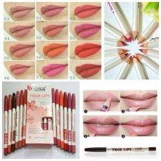 ทบทวน ที่สุด ลิปดินสอ True Lips Lip Liner Pencil 12 แท่ง 12 สี
