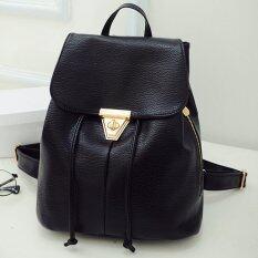ราคา Little Bag กระเป๋าสะพายหลัง กระเป๋าเป้ กระเป๋าแฟชั่นผู้หญิง รุ่น Lp 027 สีดำ เป็นต้นฉบับ
