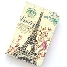 Little Fire ไอแพดมินิ 1/2/3 ปารีส หอไอเฟล Vintage Floral Paris Eiffel Tower Leather Case For Apple iPad Mini 1/2/3