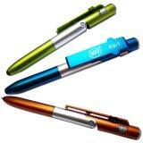 Living ปากกาสไตลัส 4 In 1 สำหรับ Smartphone Ipad สีน้ำเงิน เป็นต้นฉบับ