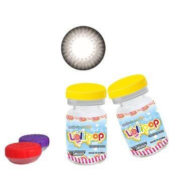 lolipop คอนแทคเลนส์ แบบแฟชั่นสายตาปกติ รุ่น vivi( pure ) พร้อมตลับใส่ 1 คู่ (สีเทา)