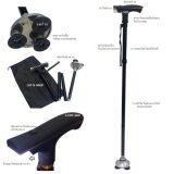 ซื้อ Lotte Elderly Crutch ไม้เท้าไฟฉาย ฐานกว้าง พร้อมจุกกันลื่น กางออกอัตโนมัติ พับเก็บได้ สีดำ ใหม่ล่าสุด