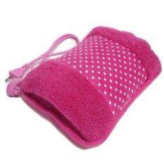 Lotte กระเป๋าน้ำร้อนไฟฟ้า นุ่มนิ่ม สอดมือได้ ร้อนเร็ว Heating Bag สีชมพู ลายจุด ถูก