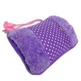 ราคา Lotte กระเป๋าน้ำร้อนไฟฟ้า สอดมือได้ คลายหนาว ปวดเมื่อย Heating Bag สีม่วง ลายจุด