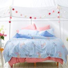 ราคา Lotus Impression ชุดผ้าปูที่นอน ผ้านวม ลายพิมพ์ รุ่น Li028 ถูก