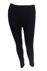 ซื้อ Louis Cj กางเกงเนื้อนาโนเอวสูง สีดำ ออนไลน์