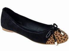 ราคา Love O Clock รองเท้า Flat Shoes Black Leopard เป็นต้นฉบับ