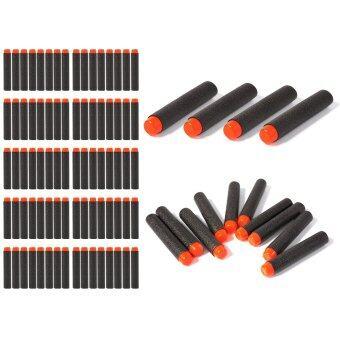 ลูกปืนของเล่น 200pcs 7.2cm EVA Refill Bullet Darts Black สำหรับ Nerf N-strike Elite Series Blasters Kid Game Toy Gun