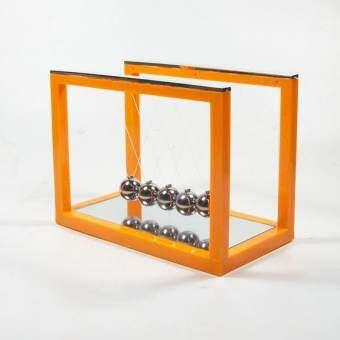 ลูกตุ้มโมเมนตัมโลหะ Balance balls เสริมฮวงจุ้ย แก้ปีชง (สีส้ม)-