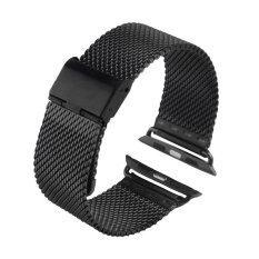 ขาย Luxury 42Mm Milanese Loop Stainless Band Wrist Watch Strap For Apple Watch Black Unbranded Generic ผู้ค้าส่ง
