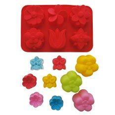 ซื้อ Luxx Flower Super Save Set พิมพ์ซิลิโคนดอกไม้ 6หลุม 6ลาย สีแดง ชุดพิมพ์ซิลิโคนดอกไม้ 3ลาย 9ชิ้น ถูก