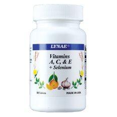 ราคา Lynae Vitamin A C E Selenium Vitamin Usa ไลเน่ วิตามิน เอ ซี อี ผสมซีลีเนียม ยีสต์ป้องกันโรคหัวใจ ต้อกระจก ภูมิแพ้ 50 เม็ด 1 ขวด ใหม่ล่าสุด