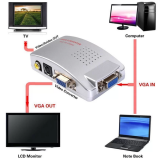 ซื้อ M Tech Box Pc To Tv Converter Vga To Av ขาว เหลือง แดง สีเงิน