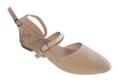 ราคา Ma Cherie Shoes รองเท้าส้นแบนแบบหุ้มส้น รุ่น M000202 Olivia Point Toe Flats Cream ราคาถูกที่สุด