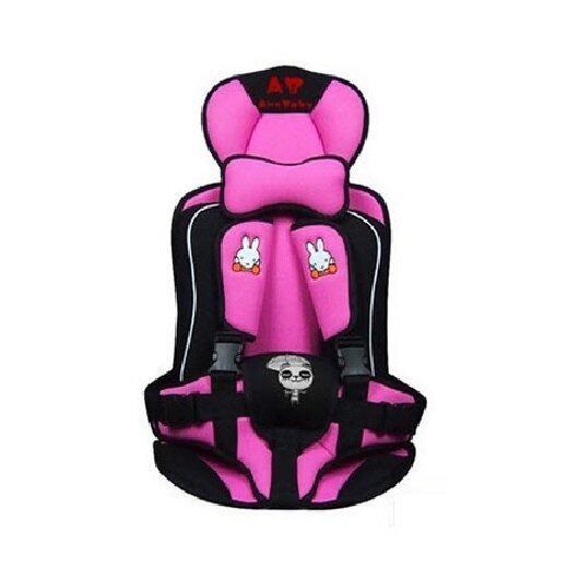 แนะนำ Madamphooh คาร์ซีทแบบพกพา (Child Car Seat) ที่นั่งในรถสำหรับเด็ก (สีชมพู)