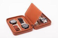 ราคา M T กล่องนาฬิกาแบบพกพา 8 เรือน สีน้ำตาล