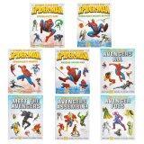 ขาย Marvel หนังสือภาษาอังกฤษ Sticker Book Collection Spiderman Avengers 8 เล่ม ไทย ถูก