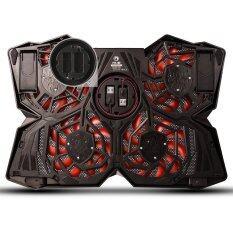 โปรโมชั่น Marvo Fn 30 15 17 Gaming Laptop Powerful Cooling Pad 4 12Cm Fan พัดลมระบายความร้อน Notebook สีดำแดง