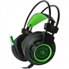 โปรโมชั่น Marvo Gaming Headphones Usb 7 1 หูฟังเกมมิ่ง รุ่น Hg 9012 Black Green ถูก