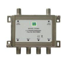 Mastersat Multi Switch 2X4 Full Hd สำหรับดูเครื่องรับดาวเทียม C หรือ Ku Band 4 จุด รุ่น Ms24Hd เป็นต้นฉบับ