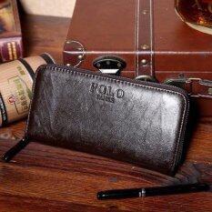 ขาย Matteo กระเป๋าใส่เช็ค กระเป๋าเงินใบยาว ซิปรอบ รุ่น Polo Fanke สีกาแฟ ออนไลน์ Thailand