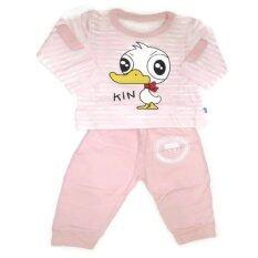ซื้อ Max Baby ชุดเด็ก เสื้อ กางเกงลายเป็ด Pink ใหม่