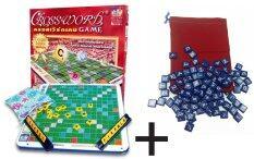 Max Ploys Crossword Game ครอสเวิร์ดเกม(เกมต่อศัพท์ภาษาอังกฤษ)ชุดมาตรฐาน+เบี้ยหนาเอแม็ท.