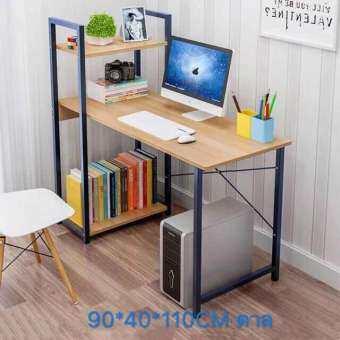 โต๊ะคอมพิวเตอร์ รุ่น H พร้อมชั้นวางหนังสือ3ชั้นโต๊ะcomputerโต๊ะคอมโต๊ะโต๊ะวางของโต๊ะทํางาน โต๊ะสวยๆ ชั้นวางของ โต๊ะเขียนหนังสือ โต๊ะไม้ โต๊ะคอมเกมมิ่ง-
