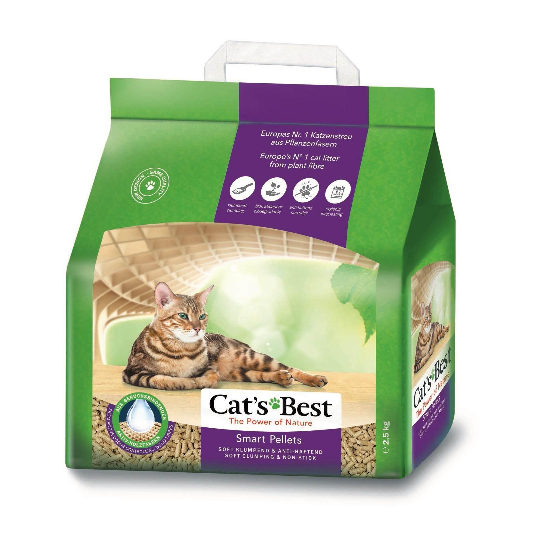Cats Best ทรายแมวสูตร สมาร์ท เพลเล็ทส์ 5 ลิตร (2.5 กก.).