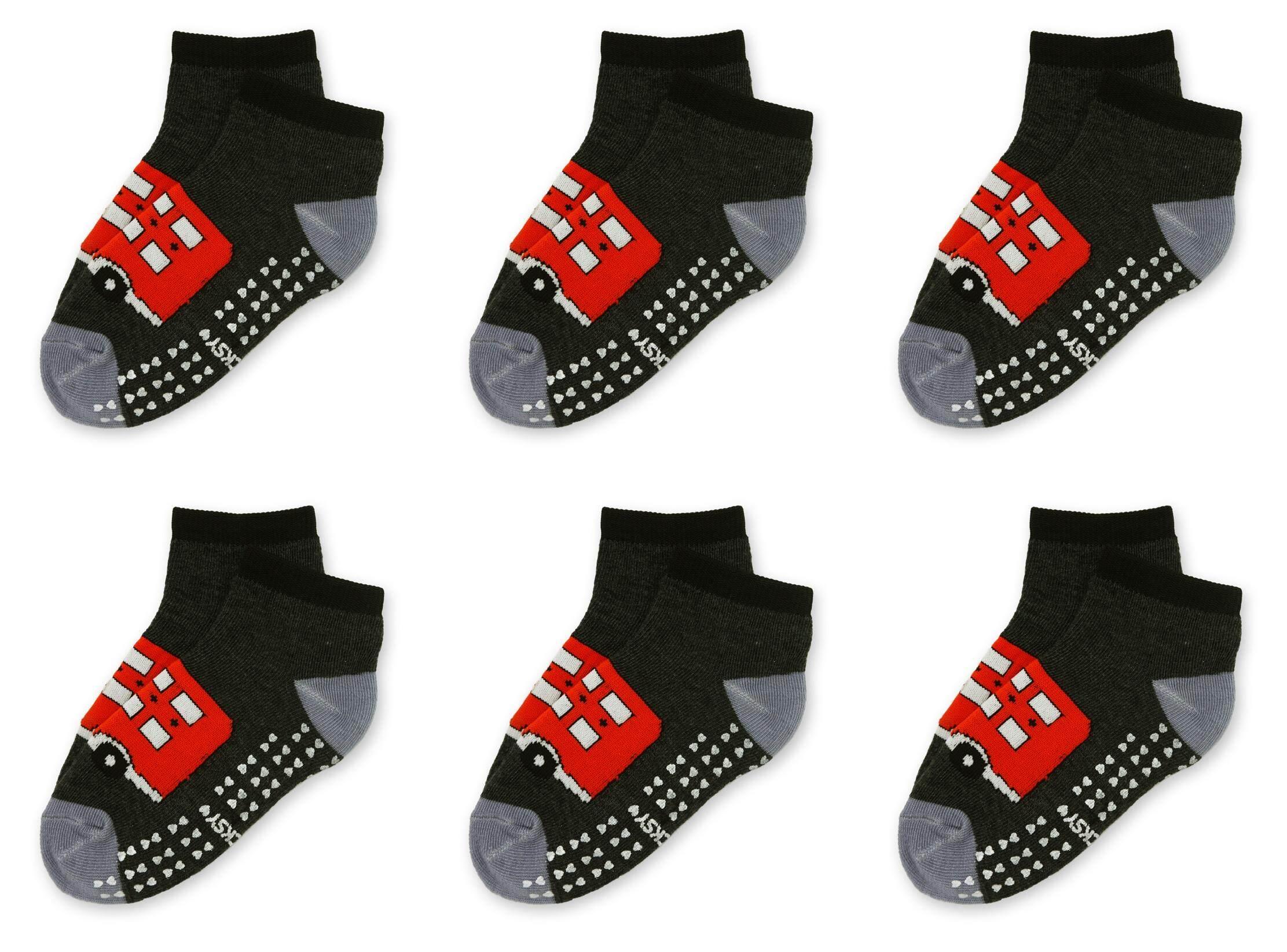 ถุงเท้าแฟชั่นเด็กมาพร้อมยางกันลื่น สำหรับเด็กอายุ 4-6 ปี  แพ็ค 6 คู่