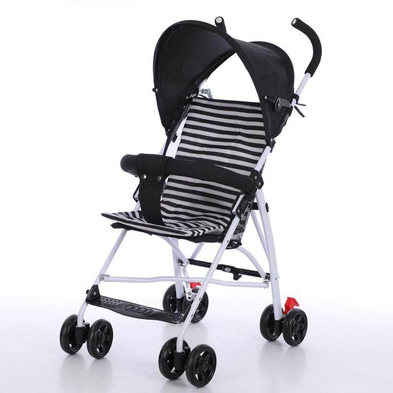 รถเข็นเด็ก Baby Stroller รองรับหนัก ฟรี เบาะ รุ่น 608#  สีดำBlack
