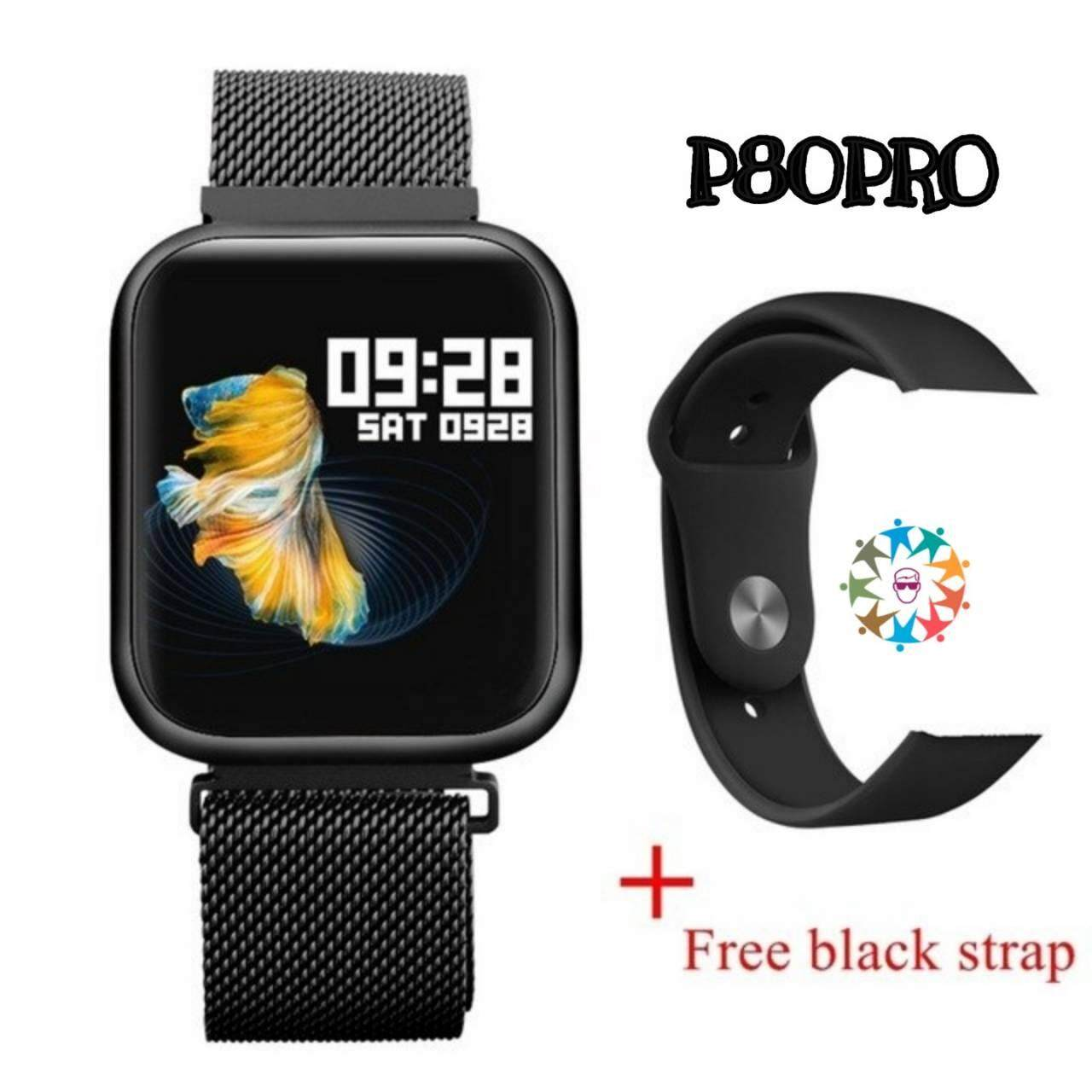 New Item⭐smart Watch รุ่น P80pro พิเศษแถมฟิล์มกันรอย⭐ (touch Screen ทั้งจอ อัพเกรดจาก P70pro).