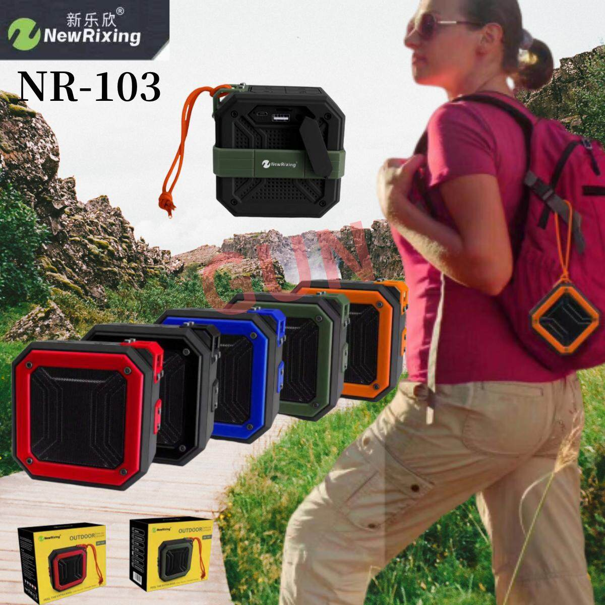 New Rixing Nr-103 ลําโพงบูลทูธ Explore Bt Bluetooth Speaker Tws Connection (แท้100%).