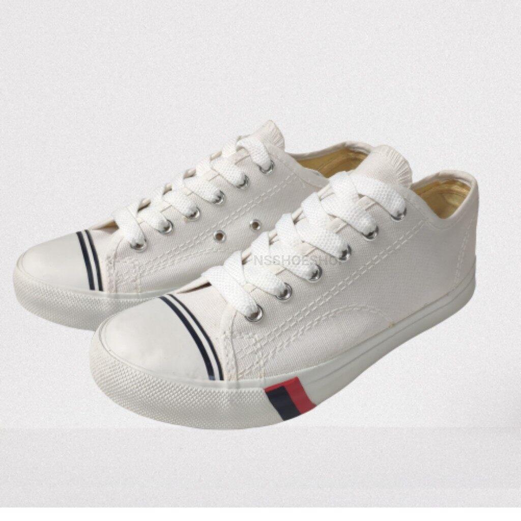 รองเท้าผ้าใบ Mashare Cp1 มาแชร์ ทรงโพร-เกดส์ สีขาว.