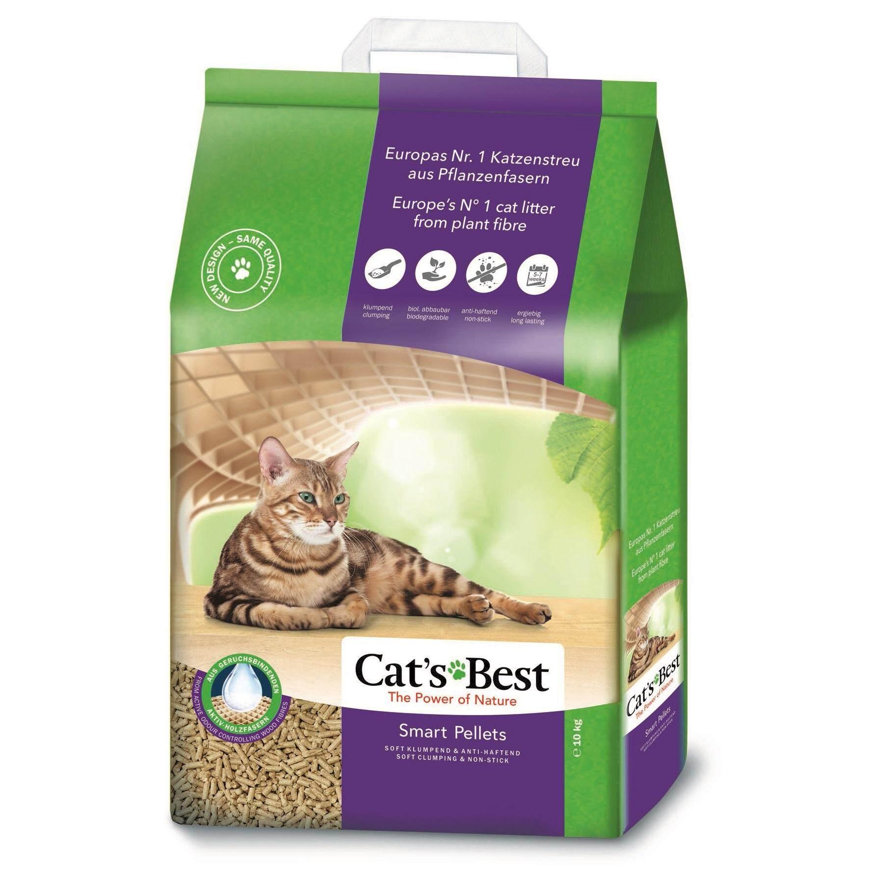 Cats Best ทรายแมวสูตร สมาร์ท เพลเล็ทส์ 20 ลิตร (10 กก.).