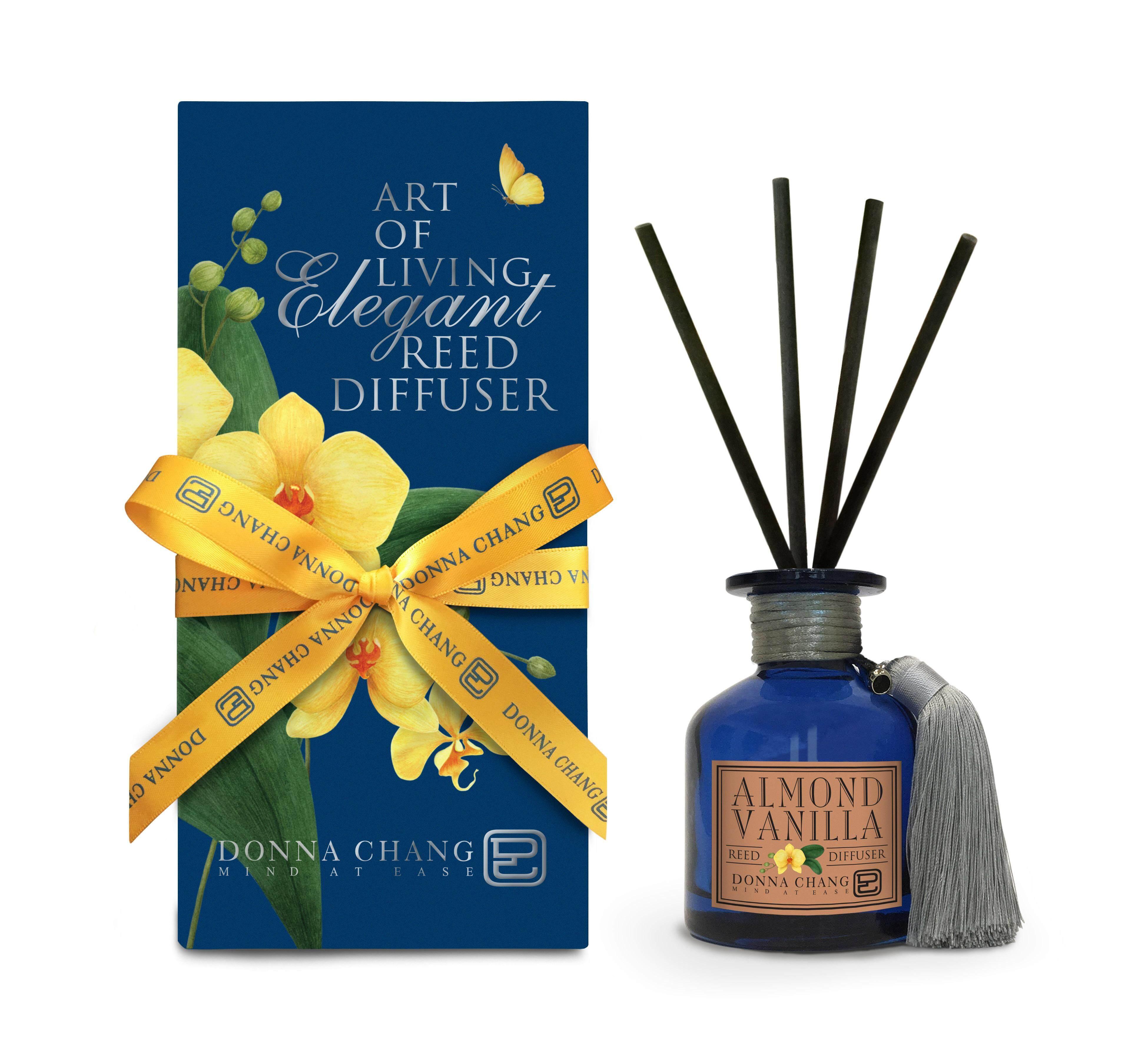 Donna Chang ชุดก้านไม้หอมปรับอากาศ Reed Diffuser กลิ่น Almond Vanilla 100 Ml..