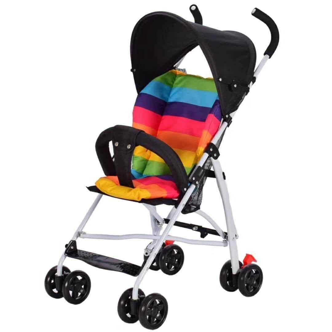 รถเข็นเด็ก Baby Stroller รองรับหนัก ฟรี เบาะ 808#  สีดำBlack