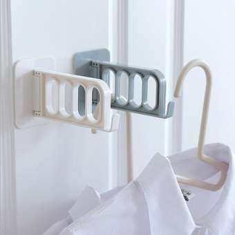 ที่แขวนไม้แขวนเสื้อผ้าแบบติดพนังสามารถหมุนพับไปมาได้ มีขนาดเล็กพอดี ใช้งานง่าย จัดเก็บสะดวก และประหยัดพื้นที่ภายในบ้าน มี 3สีให้คุณได้เลือก-