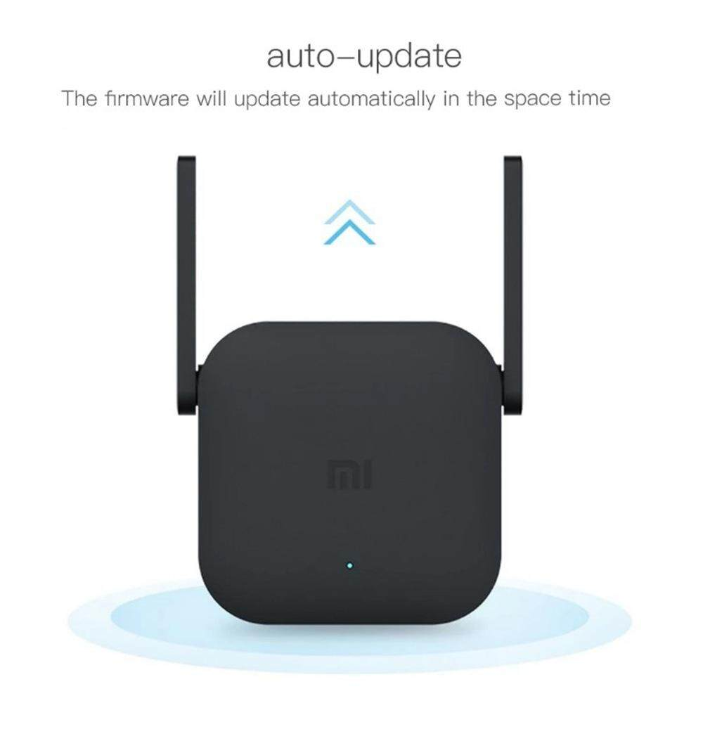(ถูกทุกวัน + แท้ 100% + ส่งไว + ประกัน 3 เดือน) Xiaomi 300m Wifi Amplifier Pro Signal Extender Repeater Wireless Receiving Routing Expansion Device - Black Tooktukwan Mi.