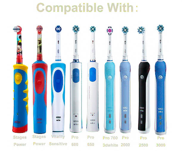 Oral-B หัวแปรงสีฟันไฟฟ้า เทียบรุ่น Precision Clean จำนวน 4 ชิ้นต่อแพ็ค, Oral B Precision Clean Toothbrush Replacement Heads.