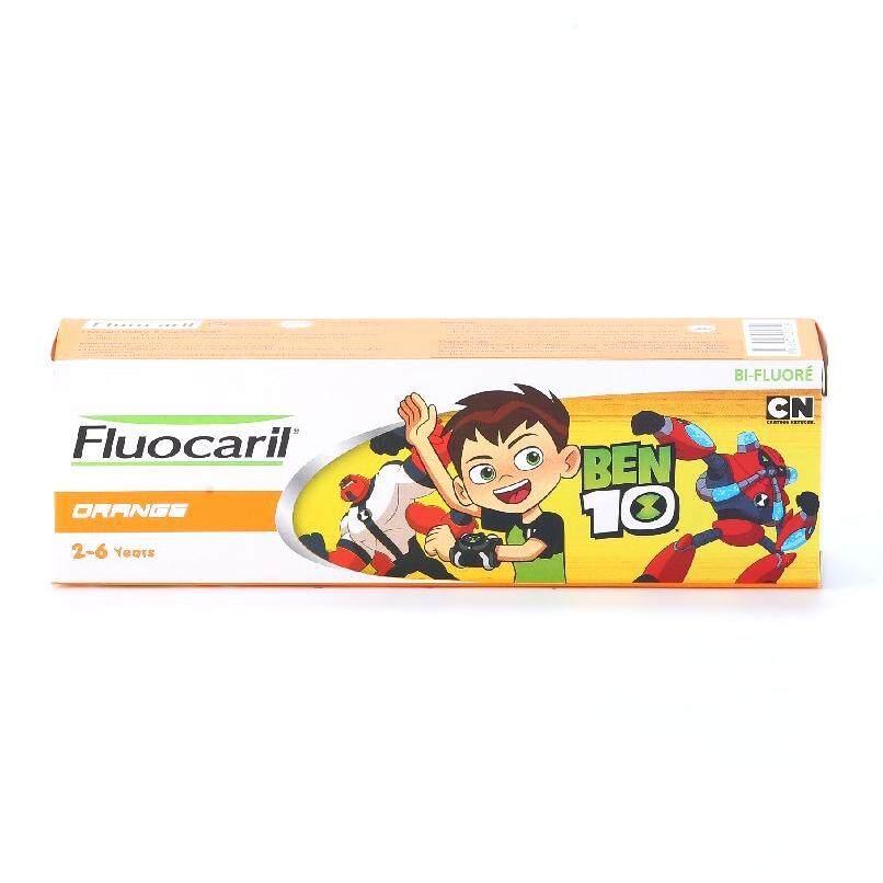 Fluocaril ยาสีฟัน ฟลูโอคารีลคิดส์ บอย 2-6 ปี ออเร้นจ์ 65กรัม (Oral,Oral Care,Toothpaste,ยาสีฟัน,ดูแลฟัน,ช่องปาก,สุขภาพฟัน) ของแท้