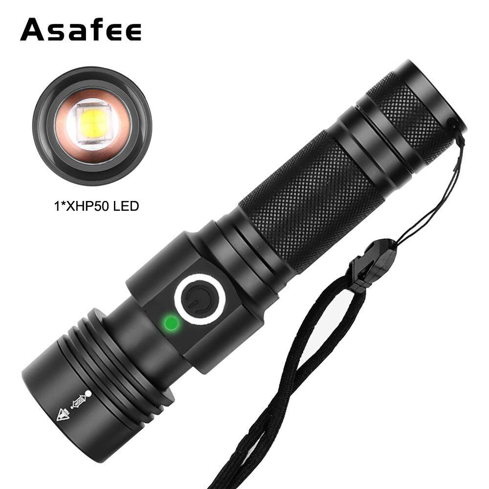Portable USB Powerful LED Flashlight Camping Light Mini Torch Zoomable 3 Modes